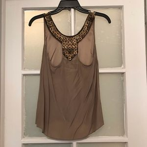 Alice & Tricia gold Embellished tank